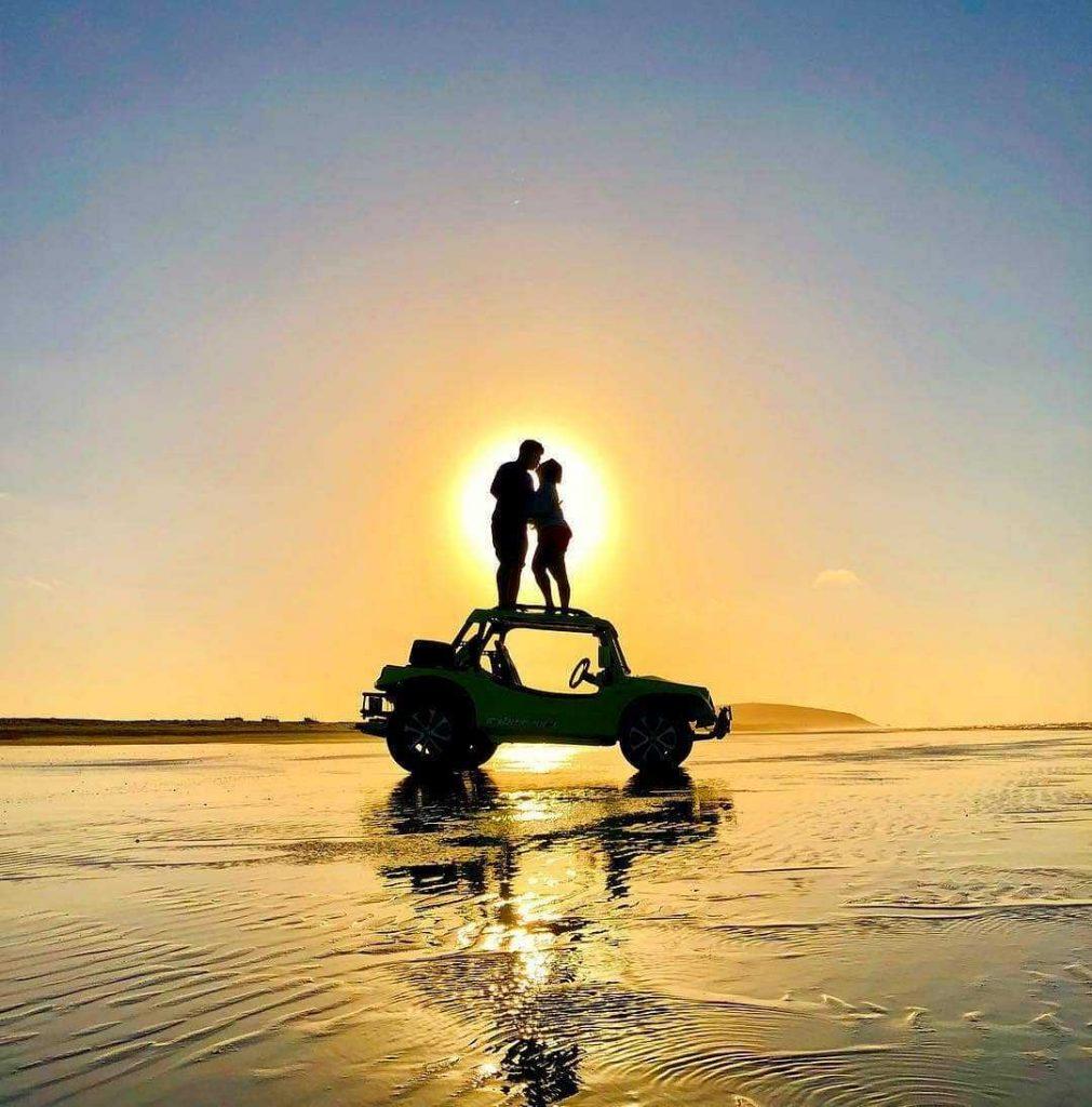 jericoacoara bresil plage coucher de soleil
