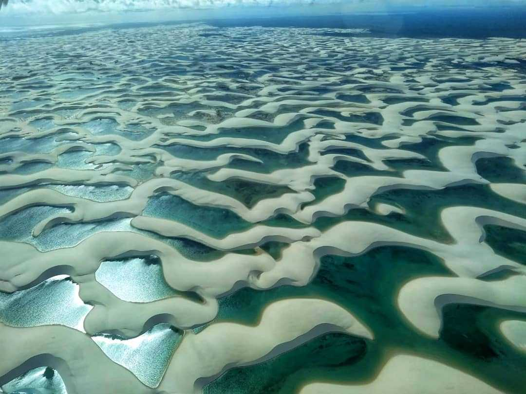 lencois maranhenses national park tours aerial view