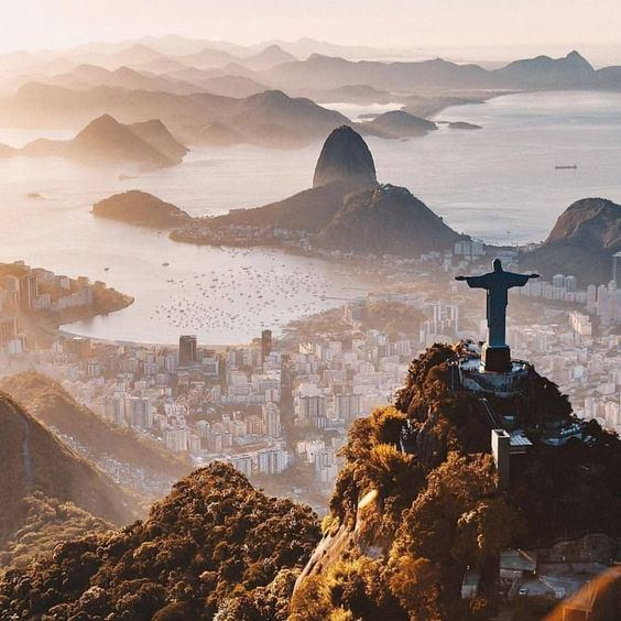 """The Corcovado (""""hunchback"""" in Portuguese) is one of the many reliefs of the city of Rio de Janeiro. It rises to 710 meters above sea level. It is famous for hosting at its summit the statue of Christ the Redeemer, one of the main symbols of the city and the country, and to offer a view of the entire southern area of the city."""