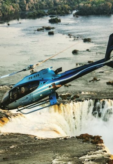 Helicopter tour Iguazu falls tour Brazil