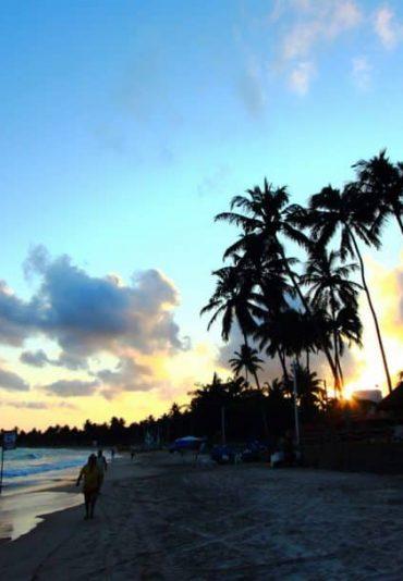 sun set porto de galinhas beach
